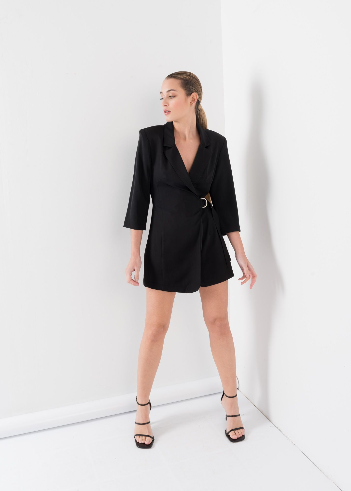 BLAZER PLAYSUIT WITH BELT