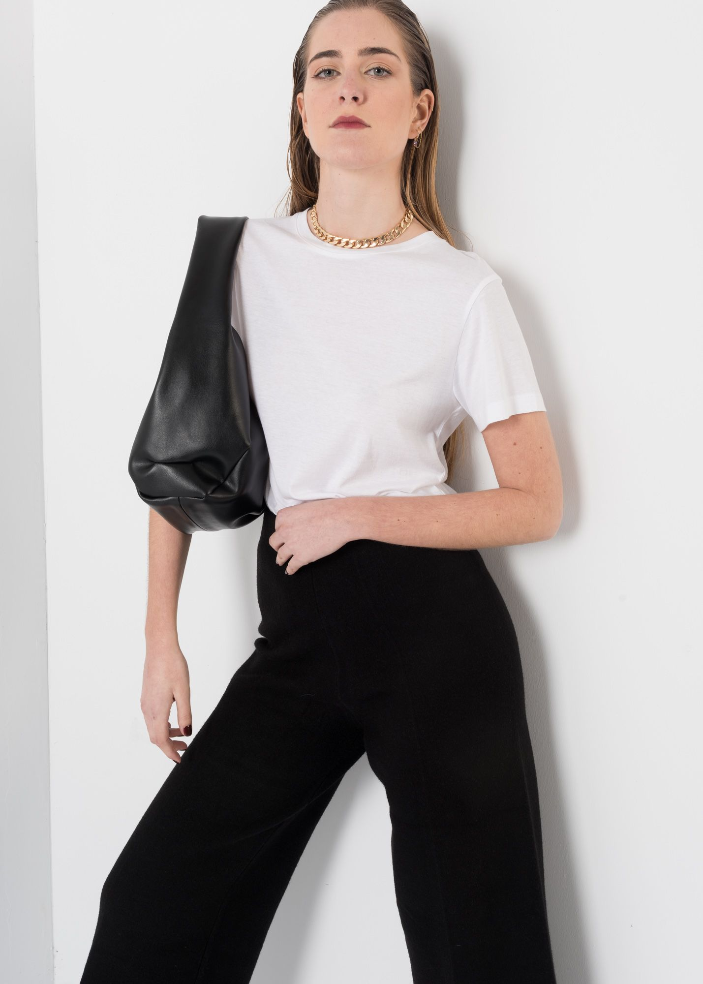 KNIT CROPPED TROUSERS