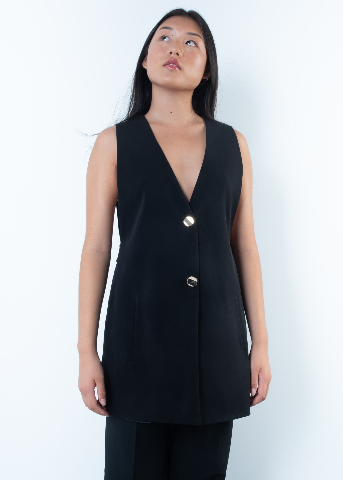 WAISTCOAT WITH GOLD BUTTON
