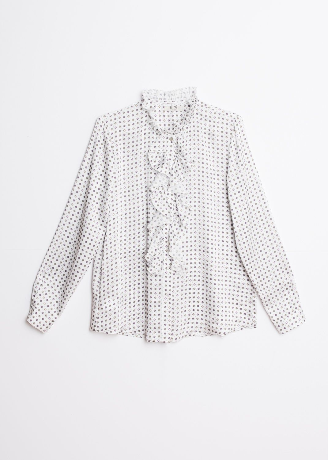 FLOWING RUFFLED BLOUSE