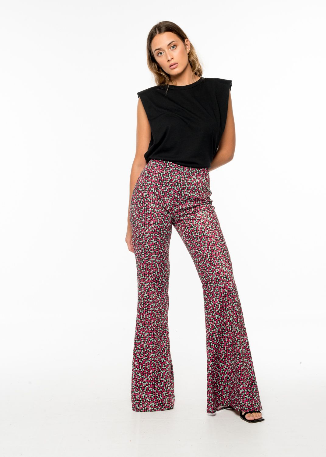 SMALL FLOWER TROUSERS