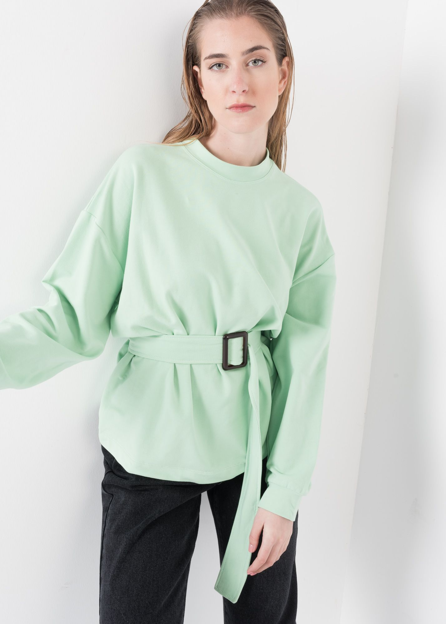 SWEAT-SHIRT WITH BELT
