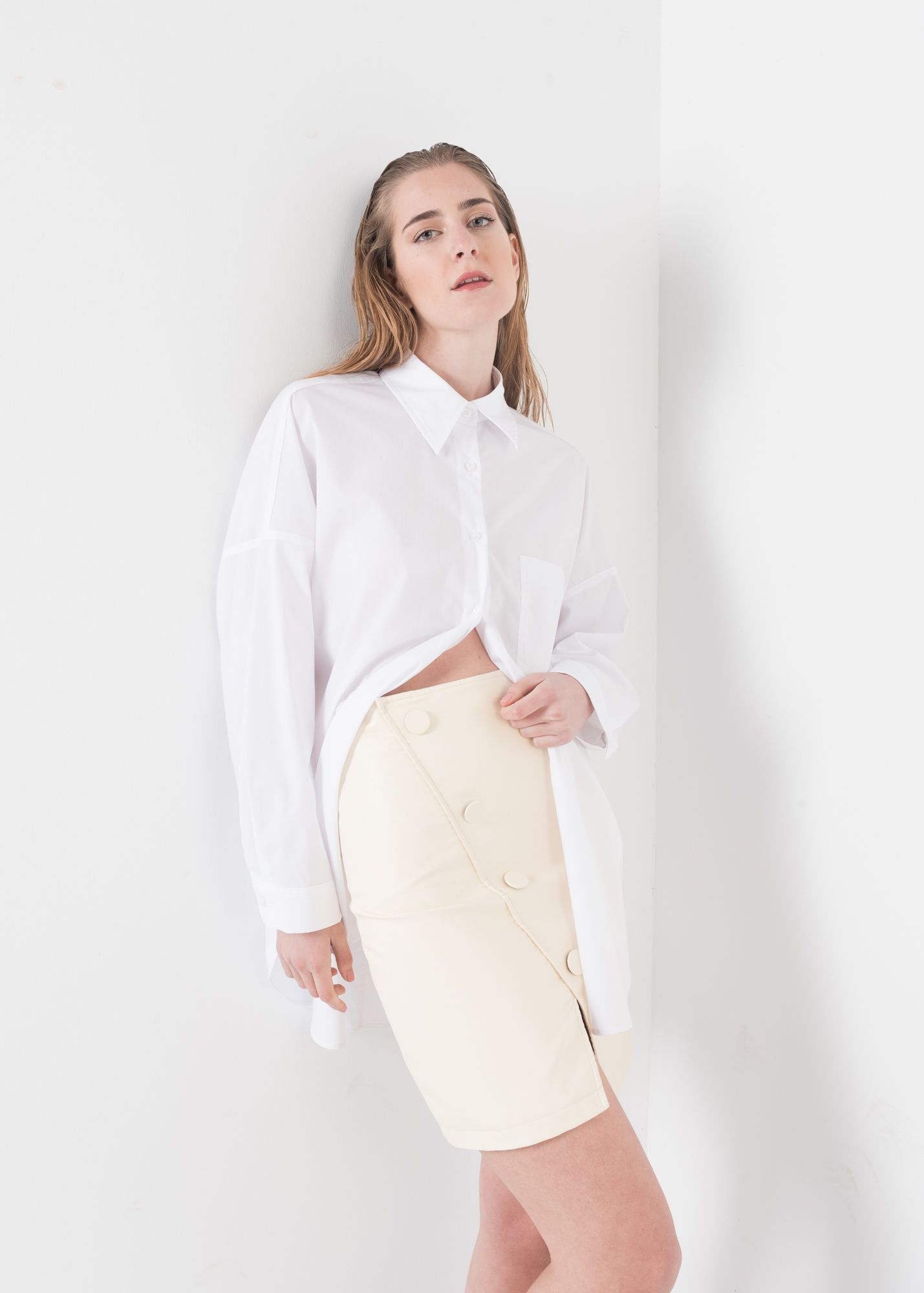 WRAP SKIRT FAUX LEATHER