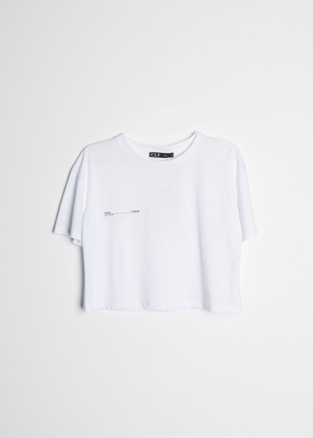CROPPED T-SHIRT WITH SLOGAN