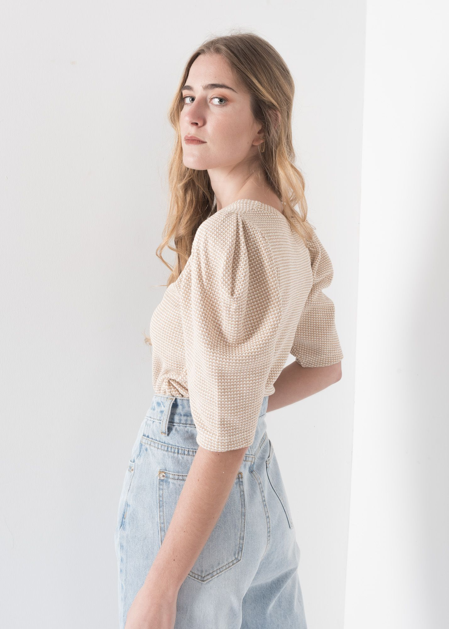 JACQUARD SWEATER WITH FULL SLEEVES