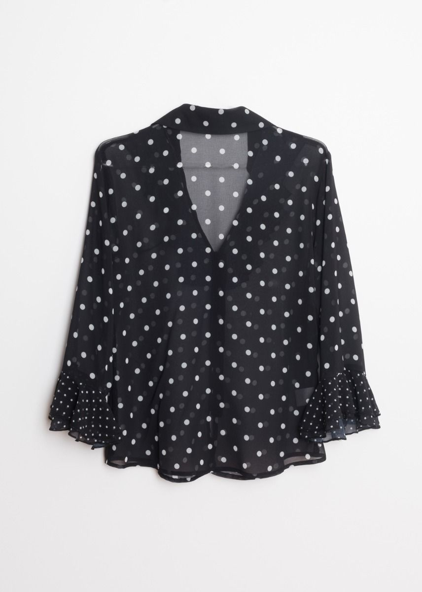 BLOUSE WITH MATCHING LACE